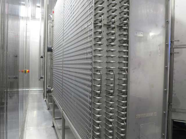 Used Kälte-Fedder type KF2X22-508/2300 Twin/double spiral freezer
