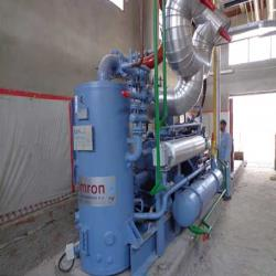 1.Used, complete Heinen and GEA Eurotek spiral freezers with matching ammonia freeze-pump installations