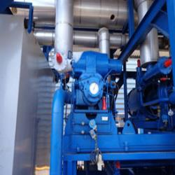 4.2 used Frigoscandia spiral freezers with matching Sabroe/Frigopak ammonia freeze-pump installation