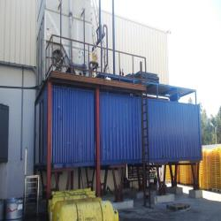 4.Used, complete Frigoscandia flow freezer with NH3 industrial Mycom freeze-pump installation