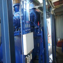 5.Used, complete Frigoscandia flow freezer with NH3 industrial Mycom freeze-pump installation
